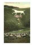 Cherhill White Horse near Calne Prints