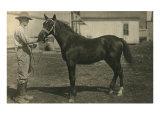 Farmer with Horse Print