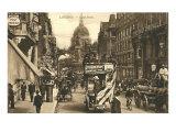 Vintage Fleet Street Scene, London Print