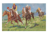 Horses and Jockeys in Steeplechase Posters