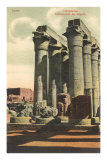 Columns at Luxor Temple, Egypt Posters