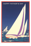 Happy Father's Day, Sailboat Graphic Photo