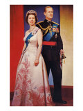 Queen Elizabeth and Prince Phillip Poster