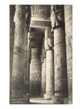 Columns at Dendera, Egypt Poster