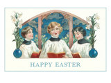 Happy Easter, Three Altar Boys Print