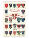 Coats of Arms of the Colleges of Cambridge Posters