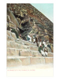 Entrance to Cheops Pyramid, Egypt Print