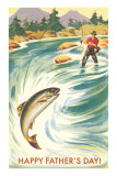 Trout Fishing Dad Posters