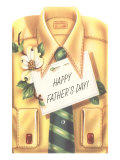 Happy Father's Day Shirt, Tie, Gardenia Posters