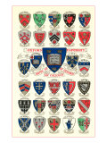 Coats of Arms of the Colleges of Oxford University Posters