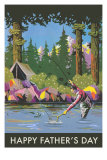 Dad Camping and Fishing Posters