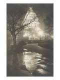 Capitol at Night, Washington, D.C. Poster
