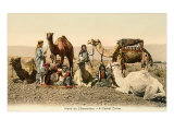 Bedouins with Camels Poster