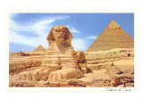 Sphinx and Pyramid, Egypt Posters