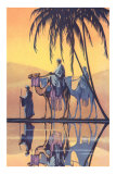 Arabs on Camels Along the Nile Print