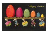 Children in Colonial Costumes Carrying Tray of Easter Eggs Prints