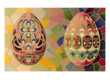 Decorated Eggs and Mosaic Tiles Poster
