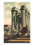 Columns at Luxor Temple, Egypt Print