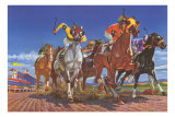 Horse Race Seen from Below Posters