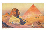 Sphinx and Pyramids, Egypt Posters