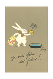 Rabbit Preparing to Bathe Posters