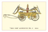 Big Six Vintage Fire Wagon Posters