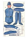Policeman Paperdoll Posters