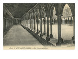 Arched Walkway at Mont Saint Michel Posters