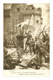 Scene of Jeanne d'Arc in Battle Photographie