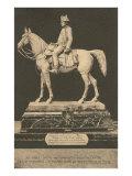 Statue of Napoleon on Horse Print