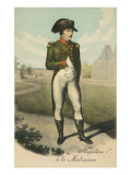 Standing Napoleon with Hand in Shirt Poster