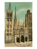 Cathedral at Rouen Poster