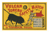 Vulcan Safety Matchbox, Torero and Bull Prints