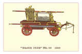 Black Joke Vintage Fire Wagon Posters