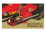 Butterfly Pipes Premium Giclee Print