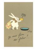 Rabbit Preparing to Bathe Affiche