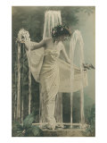 Svelte Lady as Fountain Ornament Posters