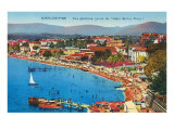 Beach Scene in Juan les Pins Posters