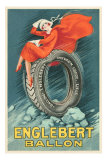 Flapper on Car Tire Posters