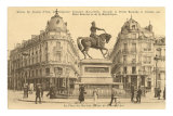 Statue of Jeanne d&#39;Arc Print