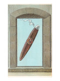 Cigar in Stone Window Poster