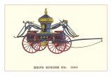 Hope Engine Vintage Fire Wagon Posters
