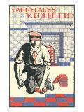 French Tile Setter Print