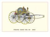 Pearl Hose Vintage Fire Wagon Print