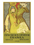 Spanish Fair Flamenco Dancer Posters