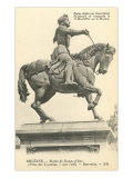 Statue of Jeanne d'Arc Posters