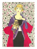 Bemused Lady with Cairns Terrier Print