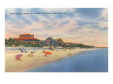Beach-Front Homes on Atlantic Beach Posters