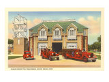 Grand Island, Nebraska Fire House Print