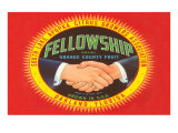 Fellowship Orange Crate Label Posters